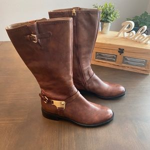 Ecco brown leather boots